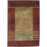 Oriental Weavers Generations 213R1 Red and Beige